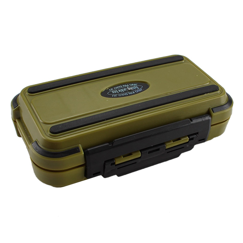 Fishing Box Case 24 Compartments durable Waterproof Double Side Fishing Tackle Storage Containers Carp Fly Fishing Accessories G|Fishing Tackle Boxes|   - title=