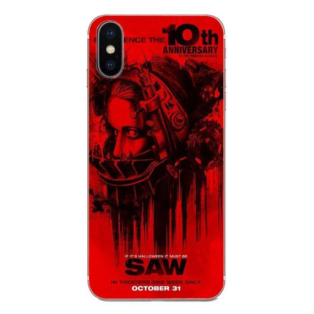 Pour Xiaomi Redmi Note 2 3 3S 4 4A 4X 5 5A 6 6A Pro Plus conception souple en TPU personnalisé masque de scie homme horreur Thriller affiche