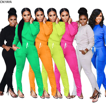 GL Winter Two Piece Set Women's set Long sleeve TShirt pencil pants suit Sexy Casual tracksuit outfit sweatsuit Sporty A8028