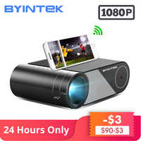 BYINTEK SKY K9 720P 1080P LED Portable Home Theater HD Mini Projector (Option Multi-Screen For Iphone Ipad Smart Phone Tablet)
