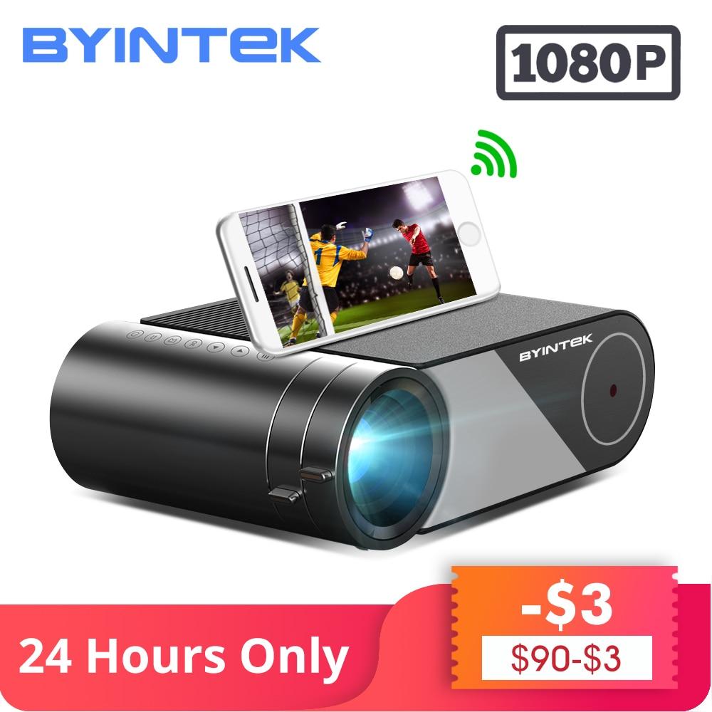 Byintek sky k9 720 p 1080 p led portátil de cinema em casa hd mini projetor (opção multi-tela para iphone ipad tablet telefone inteligente)