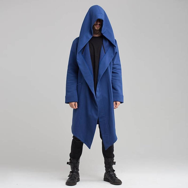 2020 New Men Hooded Sweatshirts Jacket Long Cardigan Cloak Coat Sweater Hoodie Mens Coats Hip Hop Mantle Hoodies Autumn Winter 2