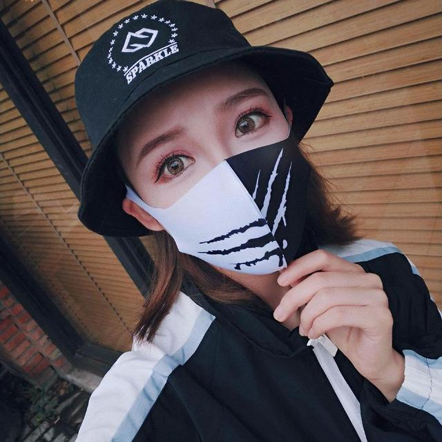 Painted Cotton Mouth Mask Anti Dust Fog Washable Breathable Personalized Mouth-Muffle Bacteria Proof Flu Face Masks For Riding