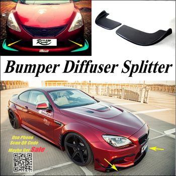Car Splitter Diffuser Bumper Canard Lip For BMW 6 M6 F12 F13 2011~2016 Tuning Body Kit / Car Front Deflector Chin Reduce Body image