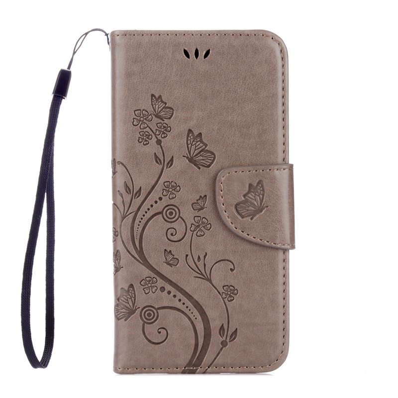 Butterfly Flower Leather Case For Lenovo K5 Dual Plus A6020 A6020a46 A6020a40 Flip Wallet Cover For Lenovo Vibe K5 Phone Case