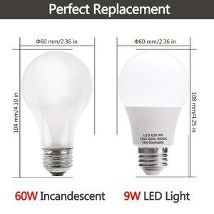Image 2 - E26 E27 lumière LED ampoule A19 9W lampe 60W équivalent 5000K lumière du jour 2700K blanc chaud pour intérieur logement décoration de la maison 6Pack