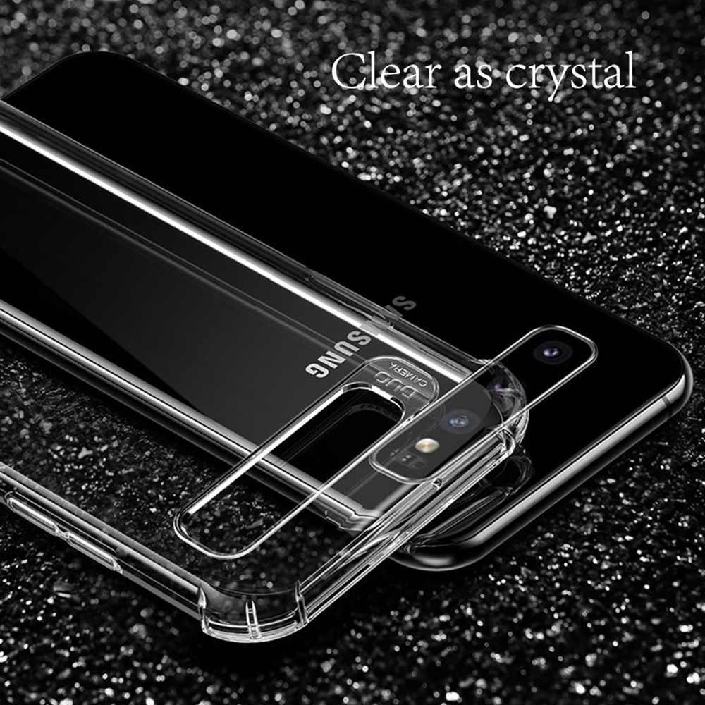 Darbeye yumuşak silikon temizle Samsung Galaxy S8 S9 S10 artı not 8 9 10 Pro M30 A10 A20 a30 A40 A50 J8 2018 kapak Etui