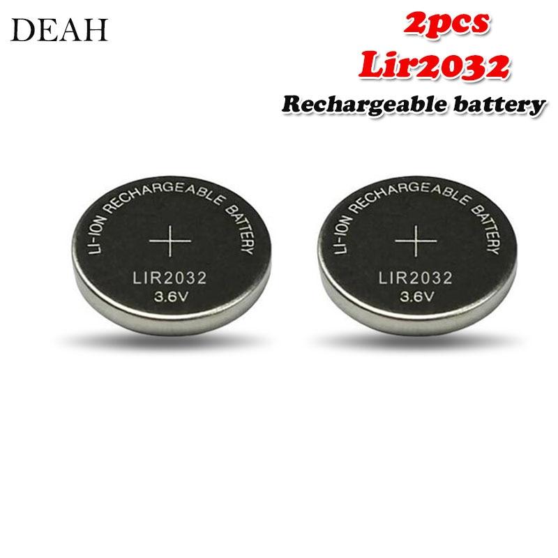 Литиевая аккумуляторная батарея LIR2032 LIR 3,6, 2032 в, 40 мАч, для пульта дистанционного управления, часов, компьютера, материнской платы, Кнопочная ...