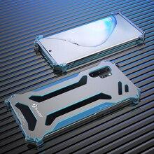 R JUST CNC อลูมิเนียมกันชนกรณีสำหรับ Samsung Galaxy หมายเหตุ 10 Plus หมายเหตุ 10 5G Anti knock กันกระแทกกรอบโลหะด้านหลัง