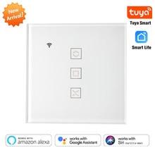Tuya EU WiFi Smart Vorhang Schalter für Elektrische Motor Rollladen Jalousien Automatische Steuerung System Arbeitet mit Alexa Google Hause