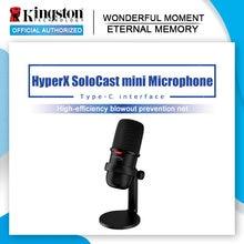 Kingston-mini micrófono SoloCast HyperX, dispositivo electrónico profesional para deportes, ordenador en vivo, juego de voz
