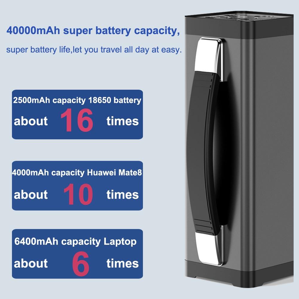 150w estação de energia portátil 40000mah bateria