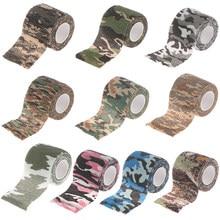 5CMx 4,5 M Camouflage Camo Hansaplast Adhesive Bandage Wrap Stretch Selbsthaftende Band für Handgelenk Knöchel Scheiben Sport Sicherheit