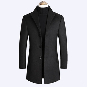 New Mens Woolen Coat Thick Winter Wool C
