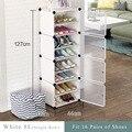 Многослойная стойка для обуви, экономия места, органайзер для обуви, шкаф «сделай сам», сборный модуль мебель для обувного шкафа Modern
