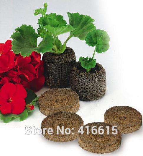 50 compte 25mm Jiffy granulés de tourbe et granulés de Coco graines bouchons de démarrage graines démarreur palette semis sol bloc professionnel
