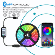 1M 2M 3M 4M 5M LED Strip Light Bluetooth Remote Fleksibel Lampu LED Tape Pita RGB TV Desktop Lampu Latar Layar Pita Dioda(China)
