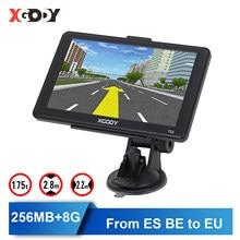XGODY araba GPS Navigator 7 inç kamyon Gps navigasyon dokunmatik ekran 256M + 8GB Sat Nav rusya Navitel 2020 amerika avrupa harita ücretsiz