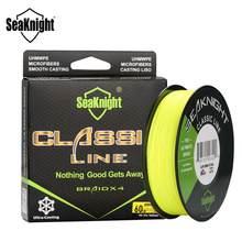 Seaknight linha clássica 300m 500 trançado multifilament pe linha de pesca 6 8 10 20 30 40 80lb 4 vertentes pesca de água salgada equipamento
