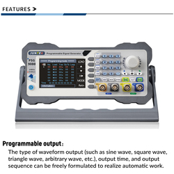 JUNTEK PSG9080 Dual Channel Programmable Function Arbitrary Wave Generator Signal Source Frequency Modulation Amplitude