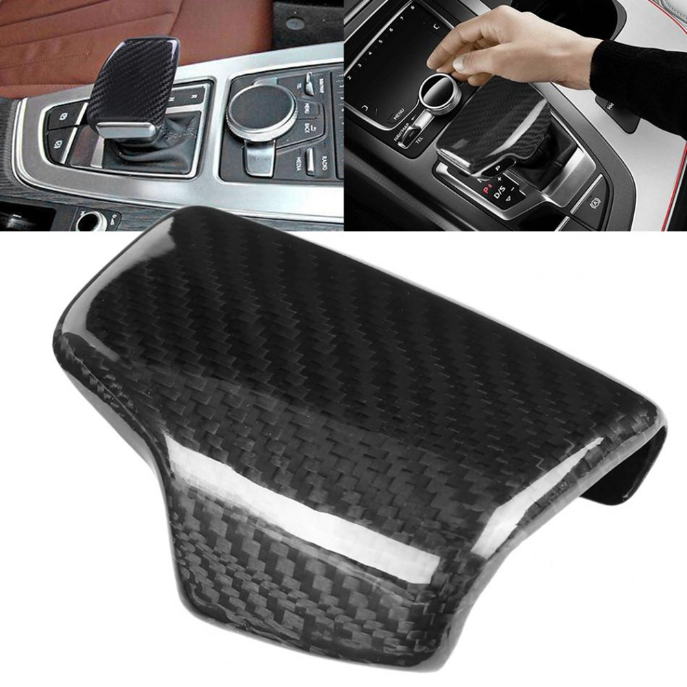 Image 5 - Real Carbon Fiber For AUDI A4 S4 RS4 B9 A5 S5 RS5 Q5 Q7 2016 2017 2018 2019 AT Car Styling Gear Shift Knob Head Cover Trim LHD-in Car Stickers from Automobiles & Motorcycles