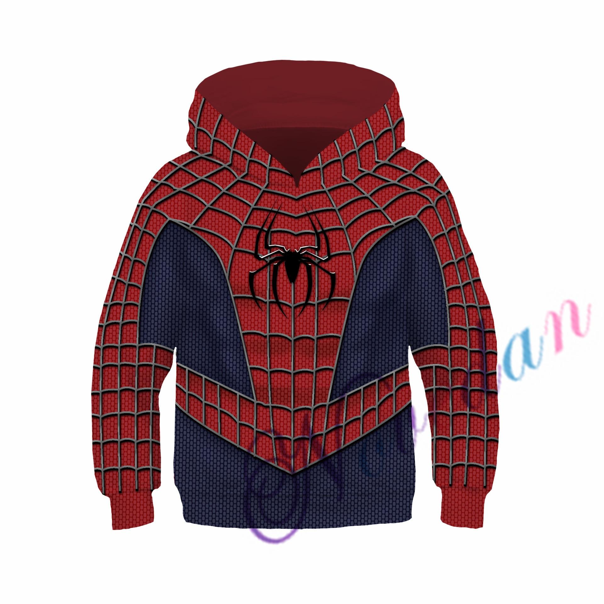 Kids Boys Hooded Endgame Cosplay Venom Man Sweatshirt Hoodie Costume Superhero Streetwear 5