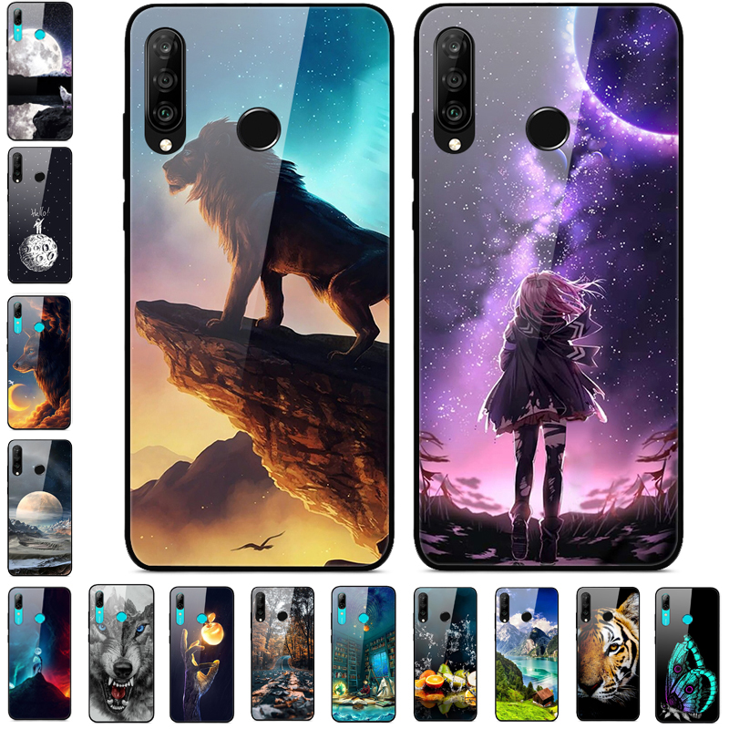 For Huawei Y6p Case 6.3 inch Tempered Glass Hard Phone Cover For Huawei Y6p Case Bumper Y 6p 2020 Protective on for Y6 P Y6P