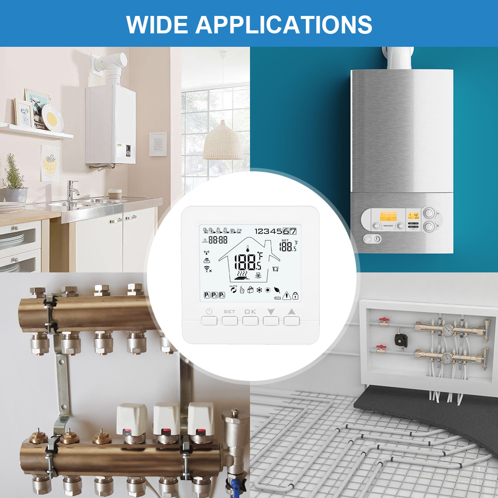 Thermostat Wi-Fi Smart Temperature Controller Electric Water Gas Boiler Floor Heating 16A 3A TUYA Smart Life APP Voice