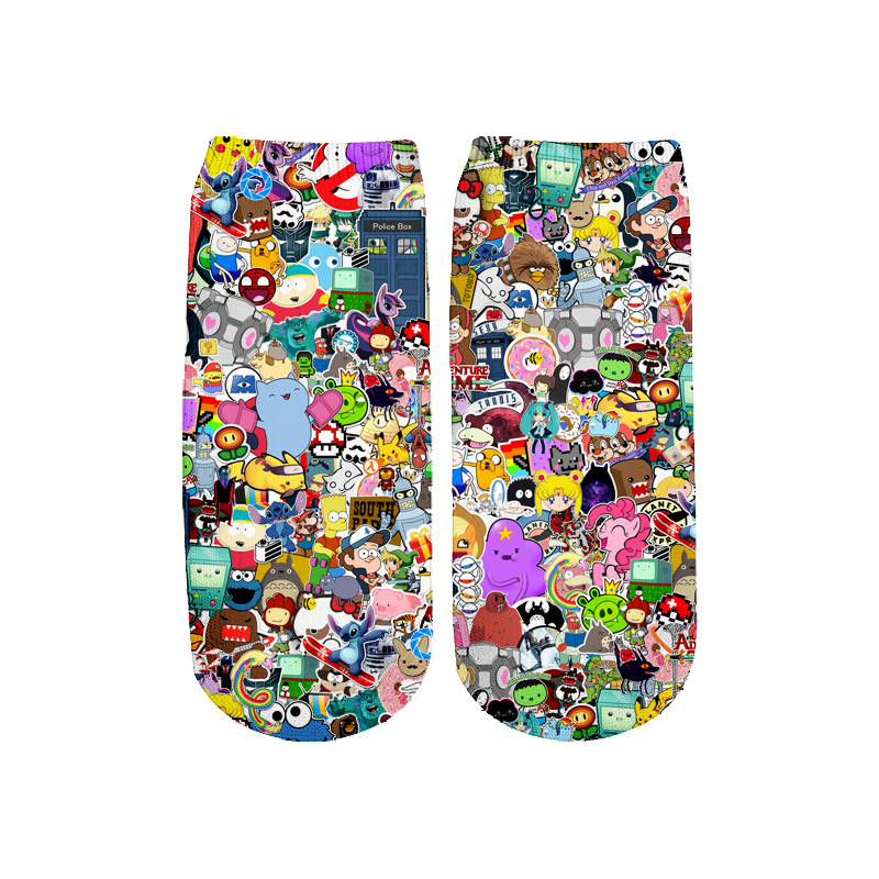Newest Rick And Morty 3D Printed Cartoon Cute Short Ankle Socks For Men Women Harajuku Korean Socks  RS-014