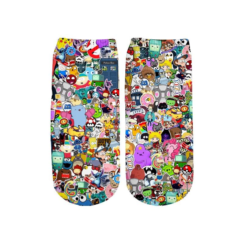 Newest Rick And Morty 3D Printed Cartoon Cute Short Ankle Socks For Men Women Harajuku Korean Socks  RS-014