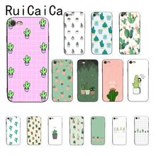 Ruicaica Cactus potted plant fresh Colorful Cute Phone Case for iPhone X XS MAX  6 6s 7 7plus 8 8Plus 5 5S SE XR 11 Pro Max ruicaica marvel avengers widow hulk iron man spider man film phone case for iphone x xs max 6 6s 7 7plus 8 8plus 5 5s se xr 10