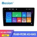 Bosion PX6 4G + 64G 10,1 дюймов 1 DIN для универсального автомобиля dvd Android 10 автомобильный аудио GPS Радио BT головное устройство WIFI USB SWC GPS навигация