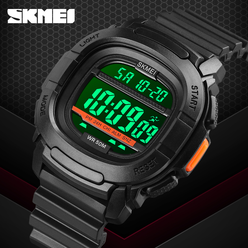 Fashion Outdoor Sport Watch Luxury Digital Watch Men Top Brand SKMEI 50m Waterproof Wristwatch Clock Countdown LED Light Watches