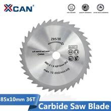 Xcan mini lâmina de serra elétrica, lâmina de corte circular para carpintaria corte de disco 85x10mm 36 dentes