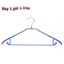 5PCS/Lot Metal Dip Hanger Adult Bold Non-Slip Shoulder Pad Clothes Hanging No Trace Dry Dryer Stainless Steel