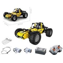 522 adet şehir RC tüm arazi Off-Road tırmanma kamyon araba Off-Road yarış uzaktan kumanda yapı taşları tuğla oyuncaklar hediyeler çocuklar