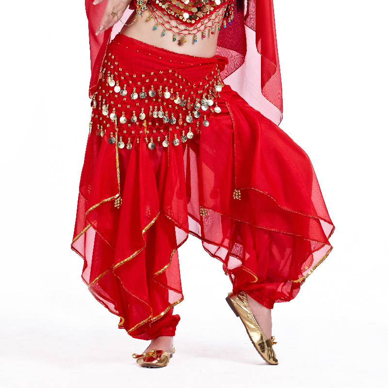 Belly dance Tribal Gold Wavy Harem Pants Skirt 8 Colors