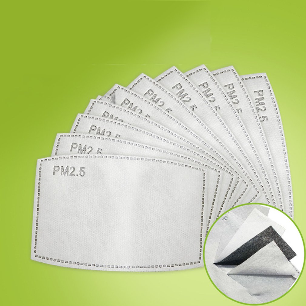 Pm2.5 Filter 5 Layers Protective Mask For Kids Mask Mask Pads Activated Carbon Mask Filter Children 50Pcs / Bag