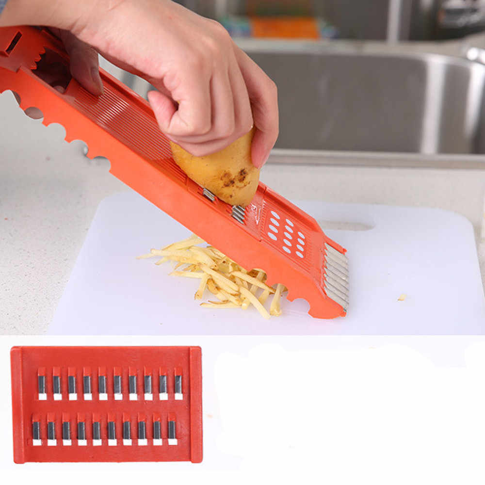 7 pçs conjunto de frutas vegetais batata slicer cortador 7 estilo multi funcional cenoura chopper descascador cozinha conjunto ferramentas alimentos