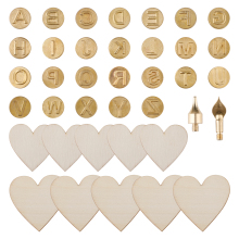 38 Pcs Art Carving Craft Models Iron Tip Stencil Soldering Pyrography Woodworking Tool Wood Burning Pen for Leather Engineering