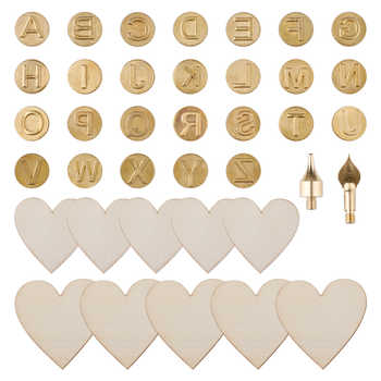 38 Pcs Art Carving Craft Models Iron Tip Stencil Soldering Pyrography Woodworking Tool Wood Burning Pen for Leather Engineering - DISCOUNT ITEM  38% OFF All Category