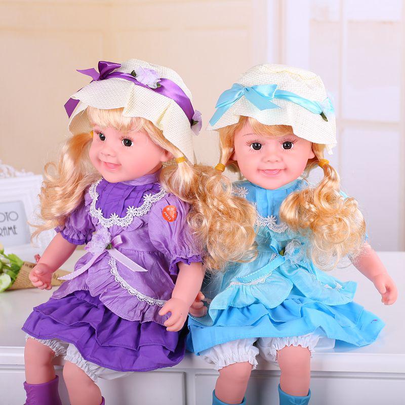 Bébé poupée jouets parlant chantant clignotant fille reborn bébé poupées enfants jouets cadeaux