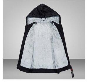 Image 5 - Polar sıcak Hoodies erkekler kış 2 adet Set kapşonlu eşofman kalın kadife kazak + pantolon marka erkek giyim rahat spor elbise