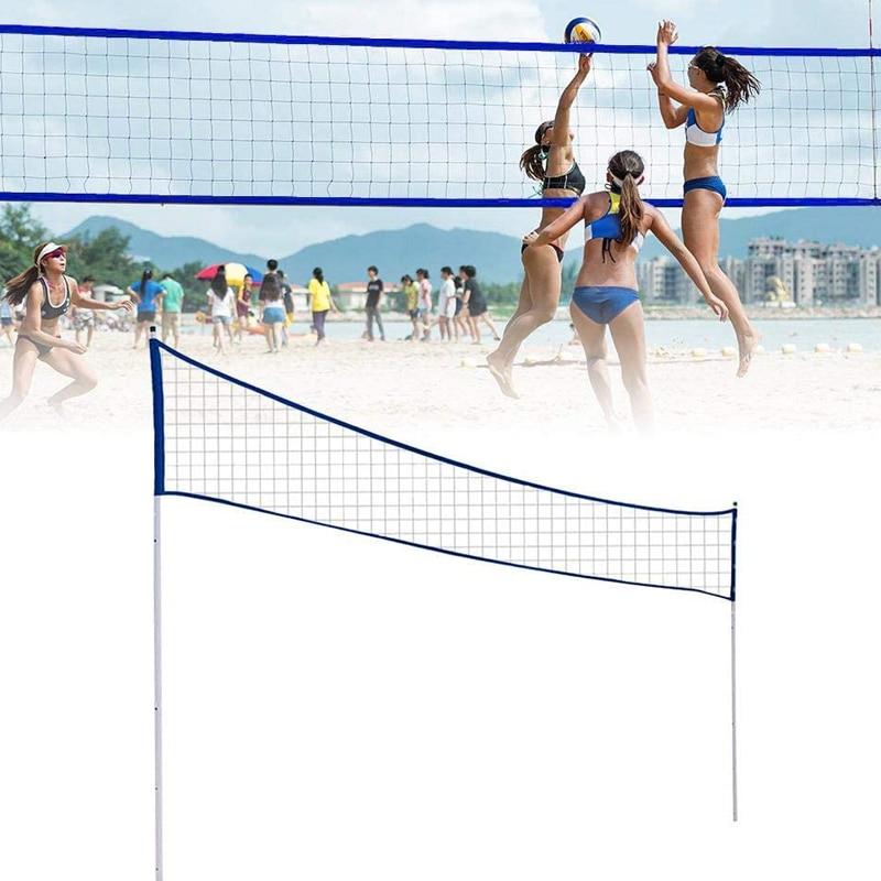 شبكة كرة الريشة في الهواء الطلق المحمولة الكرة الطائرة صافي قابل للتعديل طوي مع موقف القطب