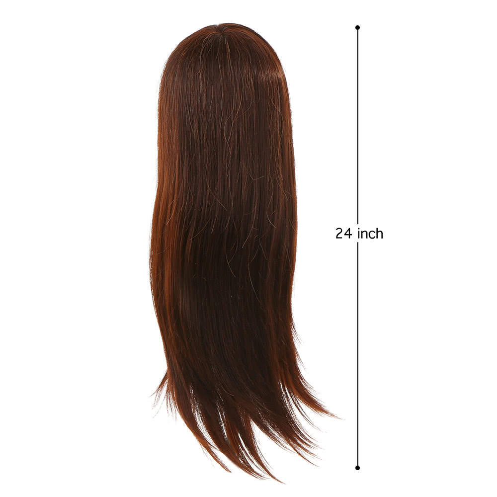 """24"""" 30% Human Hair Practice Hairdressing Training Head Model Doll W/ Clamp Hair Practice Model Mannequin Doll Head"""