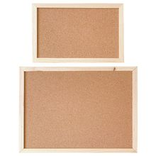 Cork Wood Wall Hanging Message Bulletin Board Frame Notice Note Memo Board Shop E65A