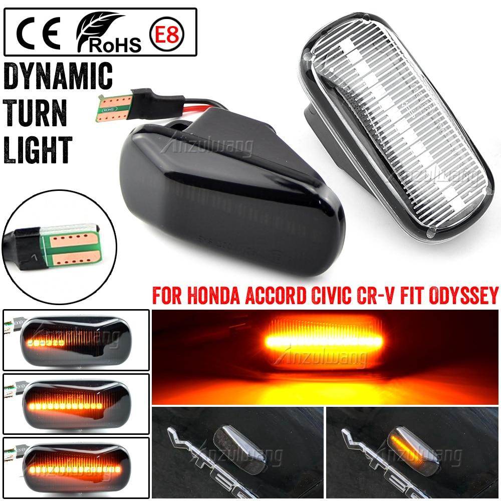 Led dinámica indicador lateral de señal de vuelta de luz lámpara para Honda Accord Coupe cívica EG3 S2000 AP1 Integra Tipo R NSX NA1 lado repetidor L