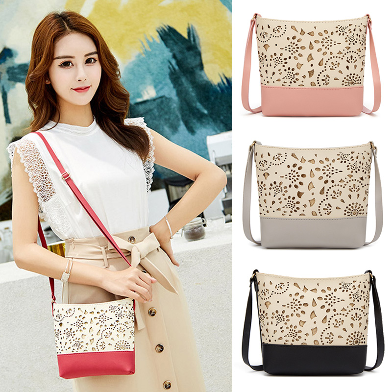 New Fashion Women Bag Hollow Pattern One-shoulder Diagonal Small Bag Fashion Mobile Wallet Ladies Crossbody Bags Bolsos Mujer