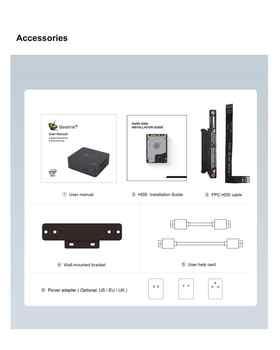 Beelink U57 Mini PC 8GB 256GB Intel Broadwell i5-5257U Genuine Windows 10 HDMI USB3.0 Dual WiFi Mini Computer Up To 3.1Ghz