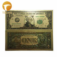 Colección 10 unids/set billetes ee.uu. 1 dólar billete de oro regalos envío gratis